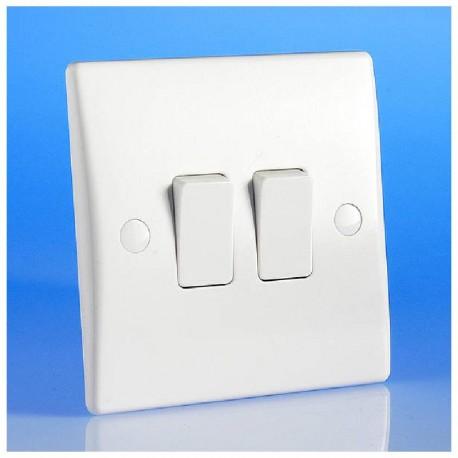 Interrupteur double couleur blanc