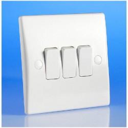 Interrupteur triple couleur blanc