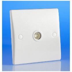 Prise antenne télévision simple couleur blanc