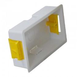 Boîte d'encastrement double - 35mm de profondeur couleur blanc