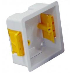 Boîte d'encastrement simple - 35mm de profondeur couleur blanc