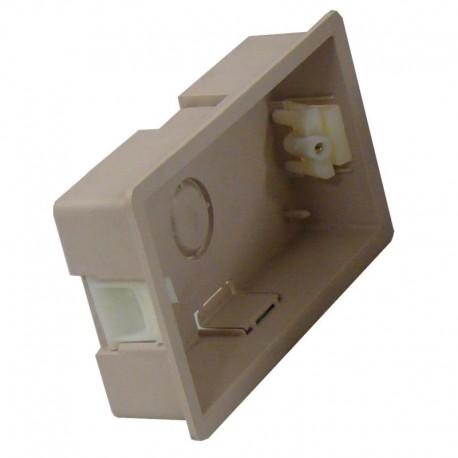 Boîte d'encastrement double - 25mm de profondeur couleur blanc