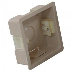Boîte d'encastrement simple - 25mm de profondeur couleur blanc