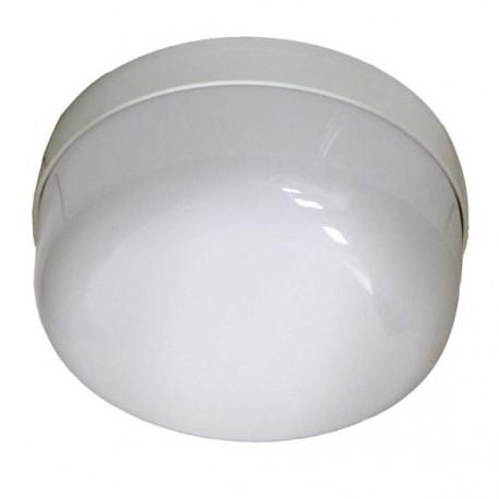 Plafonnier salle de bain polycarbonate IP21 - diam. 235mm 100W E27 couleur blanc