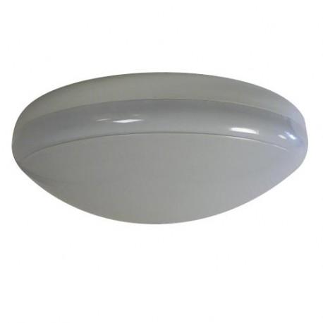 Plafonnier salle de bain polycarbonate IP65 - diam. 300mm 75W E27 couleur blanc