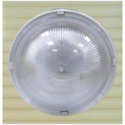 Eclairage extérieur polycarbonate IP44 diam.215mm 60W E27 couleur blanc