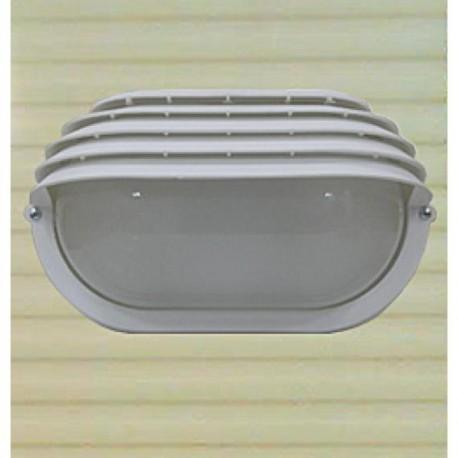 Eclairage extérieur polycarbonate et verre IP44 280x160mm 60W E27 couleur blanc