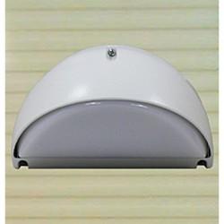 Eclairage extérieur aluminium et polycarbonate IP65 190x115mm 40W E14 couleur blanc