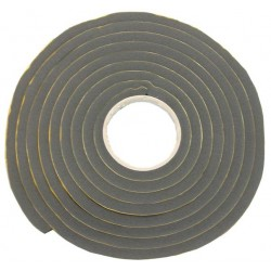 Joint mousse noir adhésif en caoutchouc pour fenêtre - vendu par 10 m - carré 12x12mm