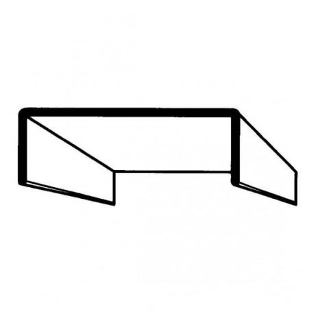 Profil de porte - 22mm x 2,5m couleur blanc