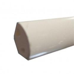 Profilé de finition PVC - 17,5mm x 5m couleur blanc