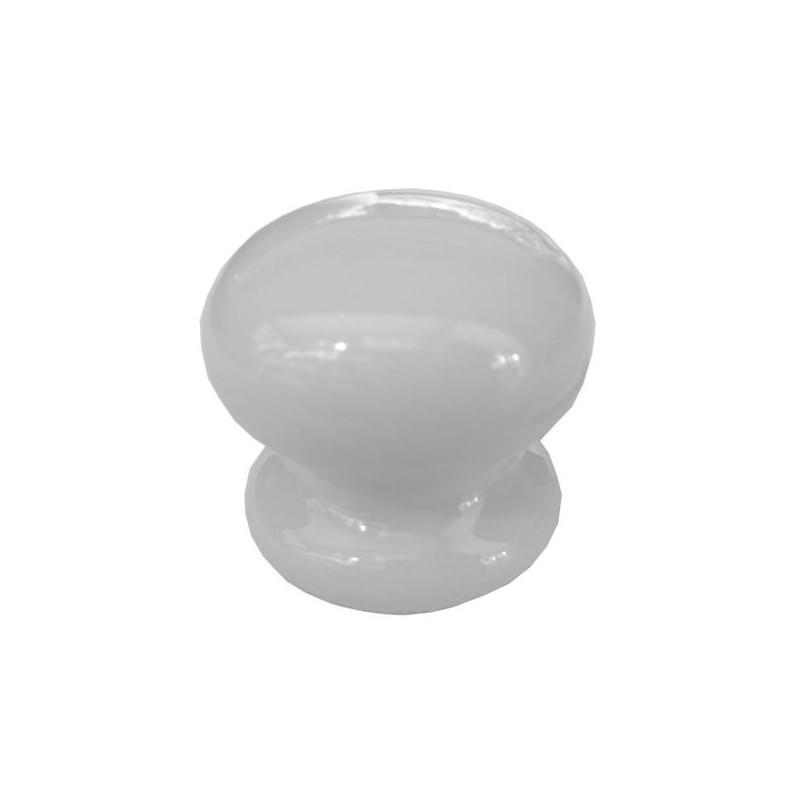 Bouton de porte porcelaine 35 mm couleur blanc amapola - Bouton de porte en porcelaine ...