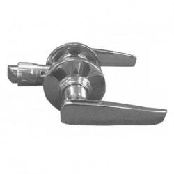 Poignées de porte sans serrure de sécurité - loquet 22mm couleur chrome