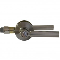 Poignées de porte avec serrure sécurité couleur chrome