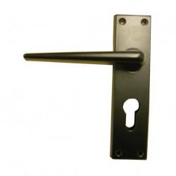 Poignées de porte d'entrée mobilhome eurolock ELLBEE couleur noir (la paire)