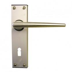 Poignées de porte d'entrée mobilhome standard type LEGGE R en aluminium