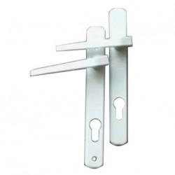Poignée de portes d'entrée de mobilhome PVC eurolock ELLBEE couleur blanc