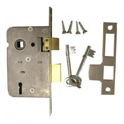 Serrure LEGGE encastrée réversible type R sans poignée avec clés R