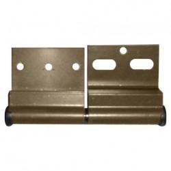 Charnière ELLBEE pour mobilhome - gauche en aluminium marron