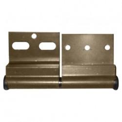 Charnière ELLBEE  pour mobilhome en aluminium  - droite couleur marron